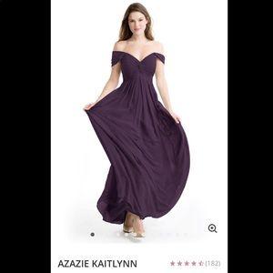 Azazie Bridesmaid Dress - Plum